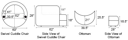 Seatcraft Swivel Cuddle Couch Cuddle Seat 4seating