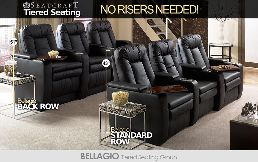 seatcraft tiered home theater seating without risers 4seating. Black Bedroom Furniture Sets. Home Design Ideas