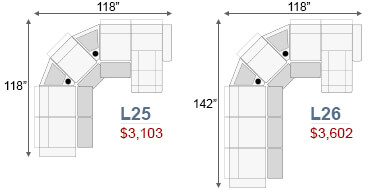 Curved Sofas and Sectionals Configurations