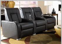 Seatcraft Highroller - Row of 3 Clearance Home Theater Seats