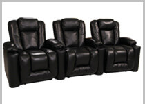Klaussner Augustus - Row of 3 Clearance Home Theater Seating